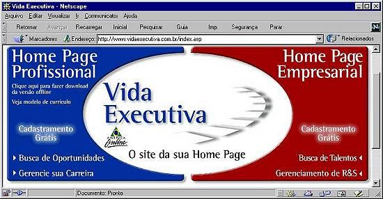 d65798a645 O novo site tem uma área reservada para as home-pages corporativas. Os  profissionais de RH podem não só pesquisar os currículos disponíveis