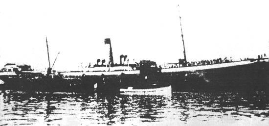 O transatlântico 'Minas' foi construído em 1891 pelo estaleiro italiano G.Ansaldo, de Sestri Ponente