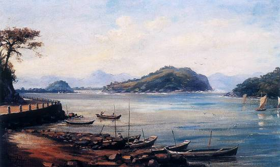 Reprodução  Benedito Calixto - Um pintor à beira-mar - A painter by the sea 40dede7dd80cb