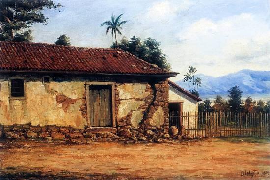 Reprodução Benedito Calixto - Um pintor à beira-mar - A painter by the sea 09399b5ac5f90