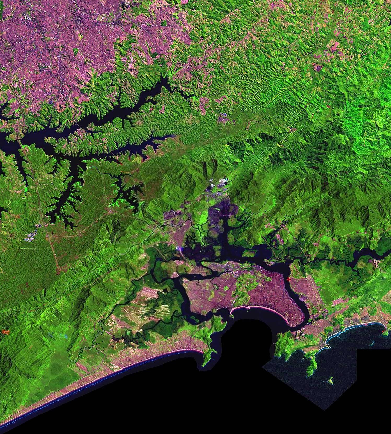 Santos/SP - Imagens por satélite