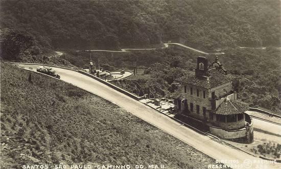 Rancho da Maioridade, no Caminho do Mar, por volta de 1940