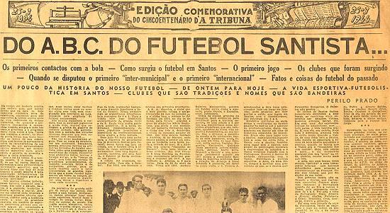 Novo Milênio  Histórias e Lendas de Santos  O início do futebol na ... ebea44abe7961