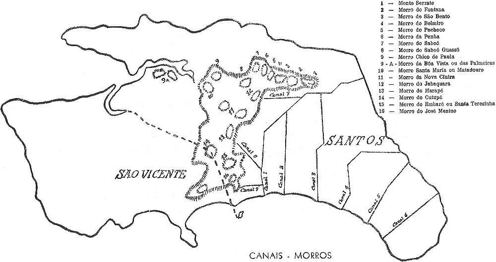 Novo Mil Nio Mapas De Santos Um Caderno Corogr Fico Em